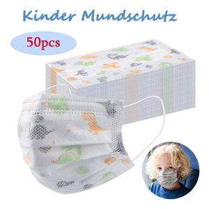 50 Stück Kinder Mundschutz, Einweg-Schutzmasken für Kinder, Kinder Einweg-Gesichtsmasken Staubschutz Schutzmaske