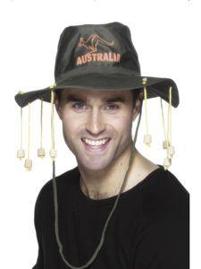 Kostüm Zubehör Australien Hut mit Korken Karneval Fasching Party