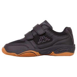 Kappa Dacer K Kinder Hallensportschuh Sneaker Indoor 260683K Schwarz, Schuhgröße:35 EU