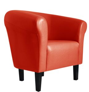 """Sessel Clubsessel Loungesessel Cocktailsessel  """"Monaco 2"""" Rot W364 03"""