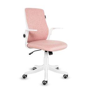 Bürostuhl Drehstuhl Schreibtischstuhl Ergonomisch Klappbare Armlehnen Wippfunktion Höhenverstellbar Drehstuhl Mesh Rosa