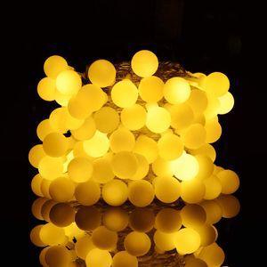 ADORIC 10M Kugel Lichterkette 80er LEDs, deko Balkon, Außen Deko, Innen, Party usw. Weihnachten Halloween