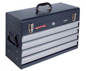Kraftwerk Werkzeugkoffer mit 4 Schubladen leer ohne Werkzeuge 1046E