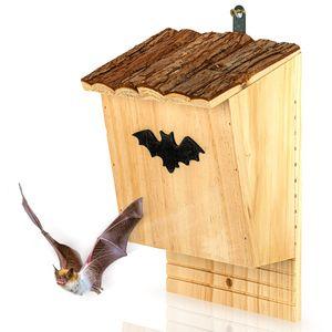 blumfeldt Fledermaushotel Nisthöhle Fledermauskasten , 18 x 28,5 x 13 cm (BxHxT) , aus Pinienholz , vormontiert , längliche, 2 cm breite Einflugöffnung , raubtiersicher , ganzjährig bewohnbar