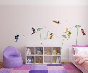 "Komar Deco-Sticker ""Fairies"", bunt, rosa, 50 x 70 cm; 14049h"