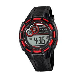 Calypso Kunststoff PUR Jugend Uhr K5625/4 Armbanduhr schwarz Digital D2UK5625/4