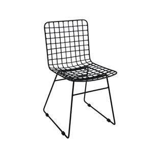 animal-design Metallstuhl LOFT Esszimmerstuhl Retro Küchenstuhl Bistro, Farbe:schwarz