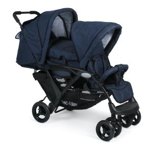 Chic 4 Baby Geschwisterwagen Duo Kinderwagen Jeans navy blue