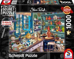 Schmidt Spiele 59656 Steve Read Künstler-Atelier 1000 Teile Secret Pu