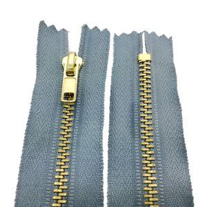 Reißverschluss Metall 4mm nicht teilbar 10 cm Rauchblau