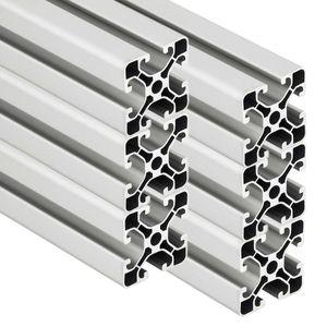 PremiumX 6x 2000mm Aluminium Profil Aluprofil 40x40 mm Nut 8 Strebenprofil eloxiert