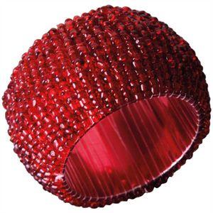 Glasperlen Serviettenring Ø4cm - Rot