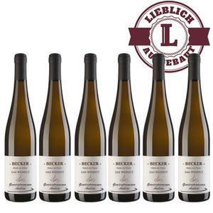 Weißwein Rheinhessen Gewürztraminer Weingut Becker Auslese lieblich (6 x 0,75 l)