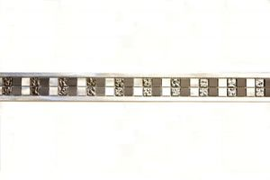 Aluminium Transluzent silber Bordüre Alu Glasmosaik Crystal silber MOSBor-OBA-0204
