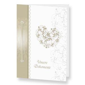 Traumappe Ormin A5 Mappe der Familie Hochzeit Trauung Stammbaum Herz Floral