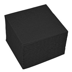 100 Servietten 2-lagig ca. 24x24cm schwarz