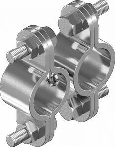 Schelle Doppelschelle Rohrschelle Edelstahl 22-30mm ARBO-INOX
