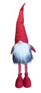 Wichtel mit ausziehbare Teleskop-Beine Weihnachten Deko-Figur Zwerg Zipfelmütze