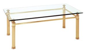 Haku Couchtisch, vergoldet - Maße: 110 cm x 60 cm x 43 cm; 47252