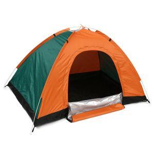 AUGIENB Pop up Zelt 2 Personen,Schnellaufbauzelt Familie Outdoor Festival Zelt,Portable Proof Wasserdichtes Wandern Campingzelte Orange