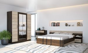 Schlafzimmer Komplett Set 6 tlg Eiche sonoma / Eiche canterbury