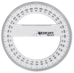 WESTCOTT Winkelmesser Vollkreis 360 Grad 100 mm