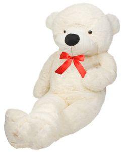 XXXL Riesen Teddybär 190cm Plüschtier Plüschbär Kuscheltier Weiß/Dunkelbraun  4660, Farbe:Weiß / white
