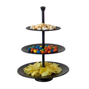 Metalletagere mit 3 Ebenen, Ø 25, schwarz - EH Excellent Houseware