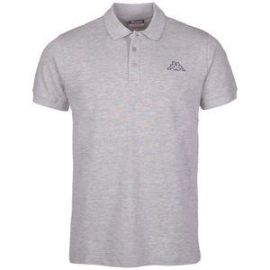 Kappa Uni Polo Shirt PELEOT Damen Herren 303173 grau, Bekleidungsgröße:4XL