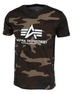 Alpha Industries Herren T-Shirt Basic Logo Camo wdl camo 65 XL