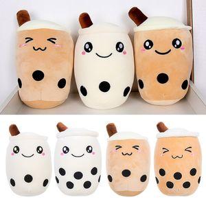 Schöne Blase Tee Boba Tasse Plüsch Kissen Gefüllte Lebensmittel Milch Tee Weichen Puppe Milch Tee Tasse Kissen Kissen Kinder Spielzeug geburtstag Geschenk
