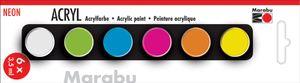 "Marabu Acrylfarben-Set ""NEON"" 6 x 3,5 ml"