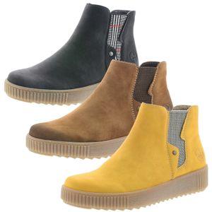 Rieker Y6461 Damen Stiefeletten Chelsea Boots Warmfutter, Größe:40 EU, Farbe:Braun