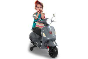 Jamara Ride-on Kinder Elektro Roller Vespa grau