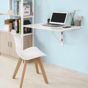 SoBuy Wandtisch Küchentisch Esstisch Schreibtisch 2 x klappbar 80x60cm FWT02-W