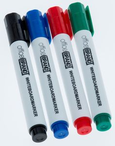 officeBRAND Whiteboard Marker 4er Set,sortiert, Rundspitze 1-5 mm