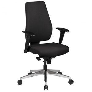 Bürostuhl Darius schwarz Stoffbezug Drehstuhl mit 3-Punkt