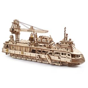 Ugears - Holz Modellbau Research Vessel Forschungsschiff 575 Teile