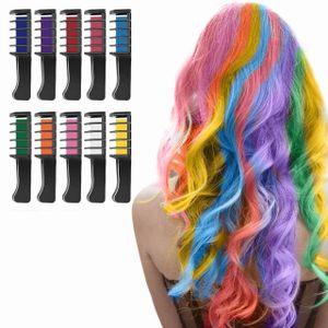 Für Mädchen, Nivlan 10 Stück Haarfarbe Kamm, Temporär Haarfarbe Kreide Kamm für Kinder Haarfärbemittel, Party und Cosplay