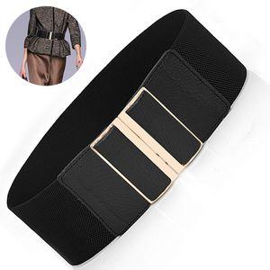 Taillen Gürtel Damen Gürtel Elastischer Breiter Taillengürtel Verstellbaren Guertel Mit Legierung Schnalle