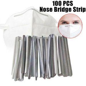 Miixia 100 Stück Maske DIY Nasenbügel Metallbügel Aluminium Für Gesichtsschutz 90 * 5 *0,5 mm