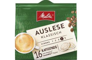 Melitta Cafe Auslese klassisch Pads feinste Auslese 16er 112g