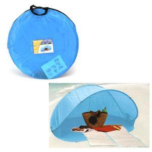 Pop Up Wurf Zelt Strandmuschel Blau Strandzelt Sonnenschutz Windschutz 200cm