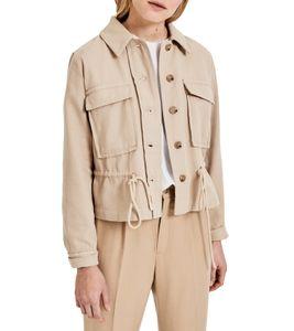 OPUS Hayana Utility-Jacke stylische Damen Sommer-Jacke mit Cargo-Details Beige, Größe:36