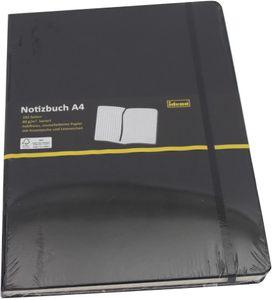 Idena Notizbuch / Kladde / 192 Seiten / kariert / DIN A4 / Farbe: schwarz