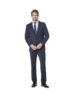 Bugatti - Herren Anzug in verschiedenen Farben, Flexicity (99770), Größe:30, Farben:Marine (380)