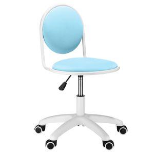 Futurefurniture® Bürostuhl, mit PolyurethanLeider Rückenlehne, bequemer Arbeitsstuhl, Lordosenstütze,erwachsener männlicher und weiblicher Stuhl (Blau)