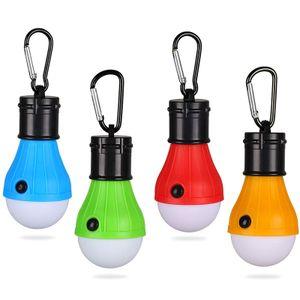 4xLED Campinglampe,Camping Laterne Zeltlampe Glühbirne Set,Notlicht mit Karabiner Wasserdicht Tragbare Camping Lantern