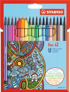 STABILO Fasermaler Pen 68 18er Karton Etui
