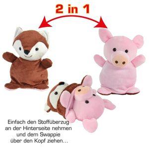 SWAPPIES Wende Plüschtier FUCHS & FERKEL 15 cm